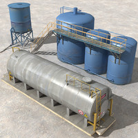 3dsmax land fuel tanks