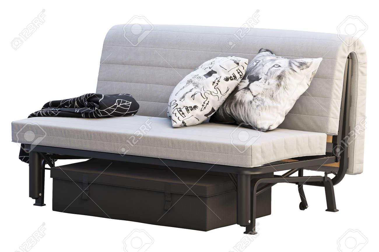 scandinavian folding sofa bed in folded condition scandinavian