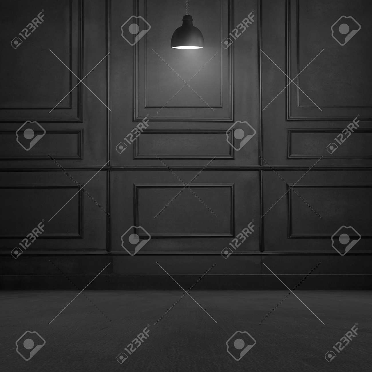 Black Room Interior Design Stock Photo  Picture And Royalty Free     Black room interior design Stock Photo   58146840