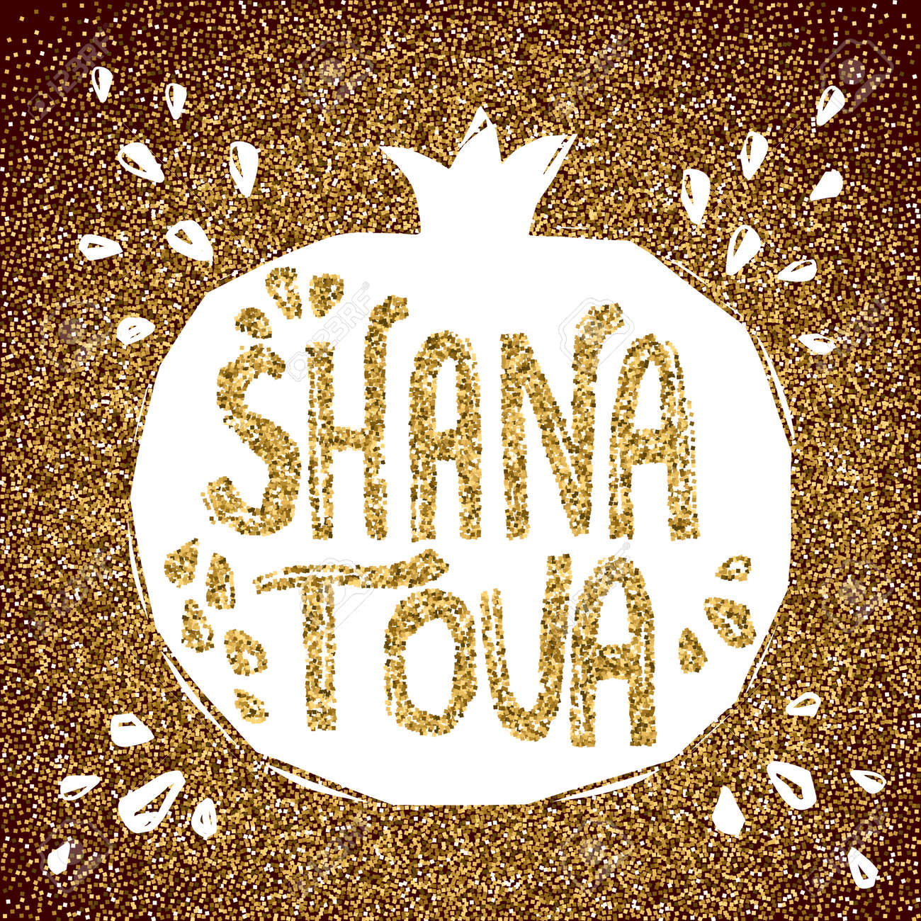 Rosh Hashanah Greeting Card With Pomegranate Shana Tova Or Jewish Royalty Free Cliparts Vectors And Stock Illustration Image 62325738