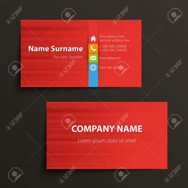 Modern Simple Business Card Template  Vector Format  Royalty Free     Modern simple business card template  Vector format  Stock Vector   31276523