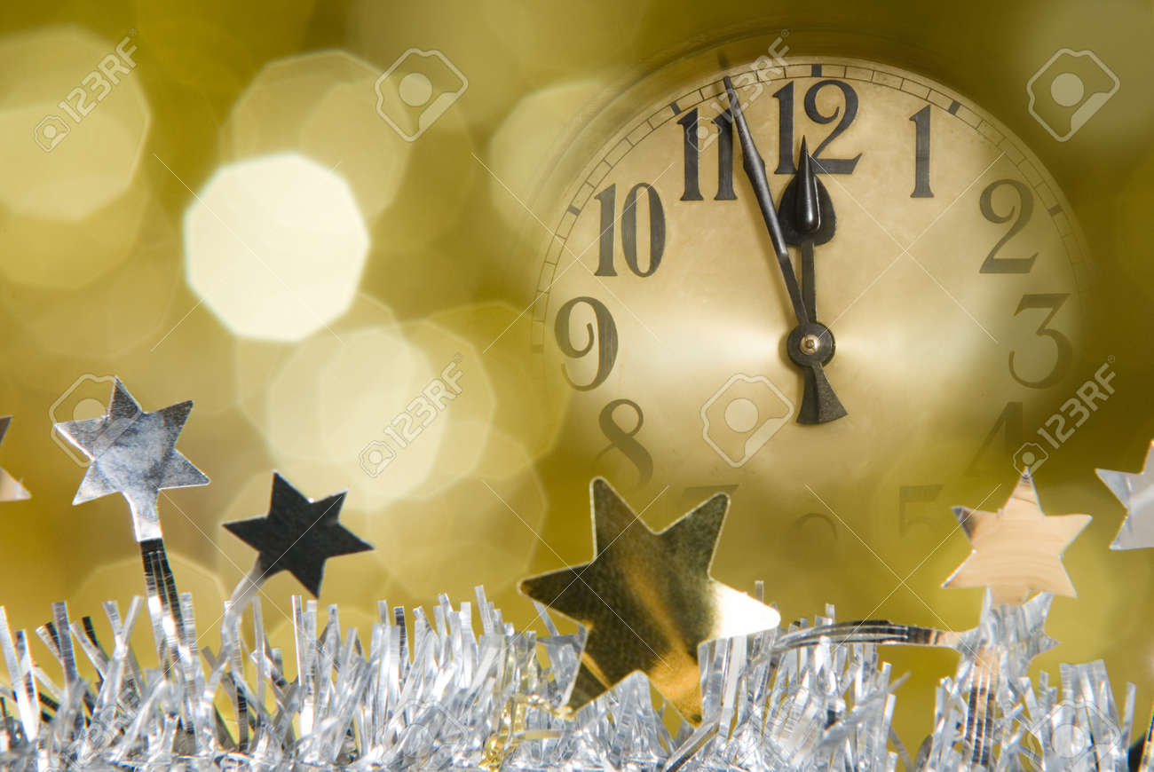 New Year Clock Stock Photo  Picture And Royalty Free Image  Image     new year clock Stock Photo   10572236