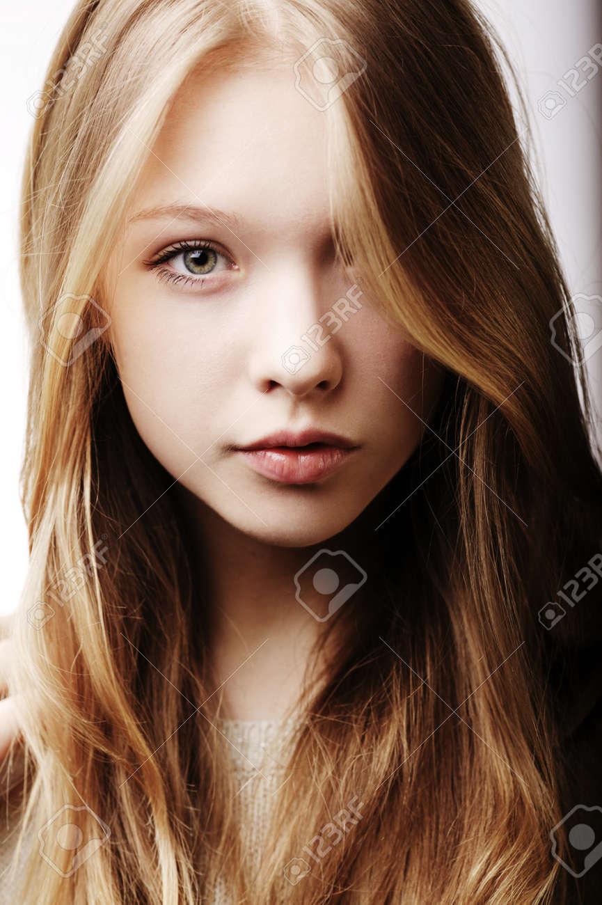 Beautiful Blond Teen Girl Portrait Stock Photo 19940513