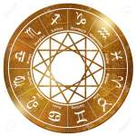 Star Wheel Tarot Horoscope Stars Gold Chain Pendant Stock Photo Picture And Royalty Free Image Image 110474322