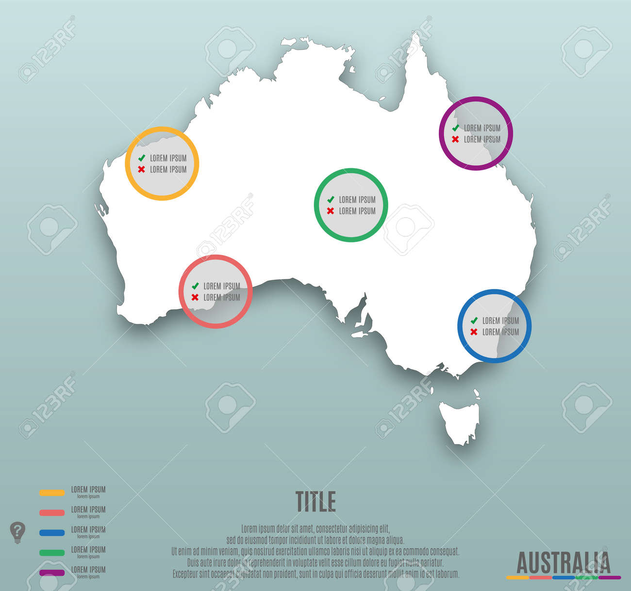 Infographic Template Slide Of Australia Map Presentation Template     Infographic template slide of Australia Map Presentation Template  Business  Layout design  Modern Style