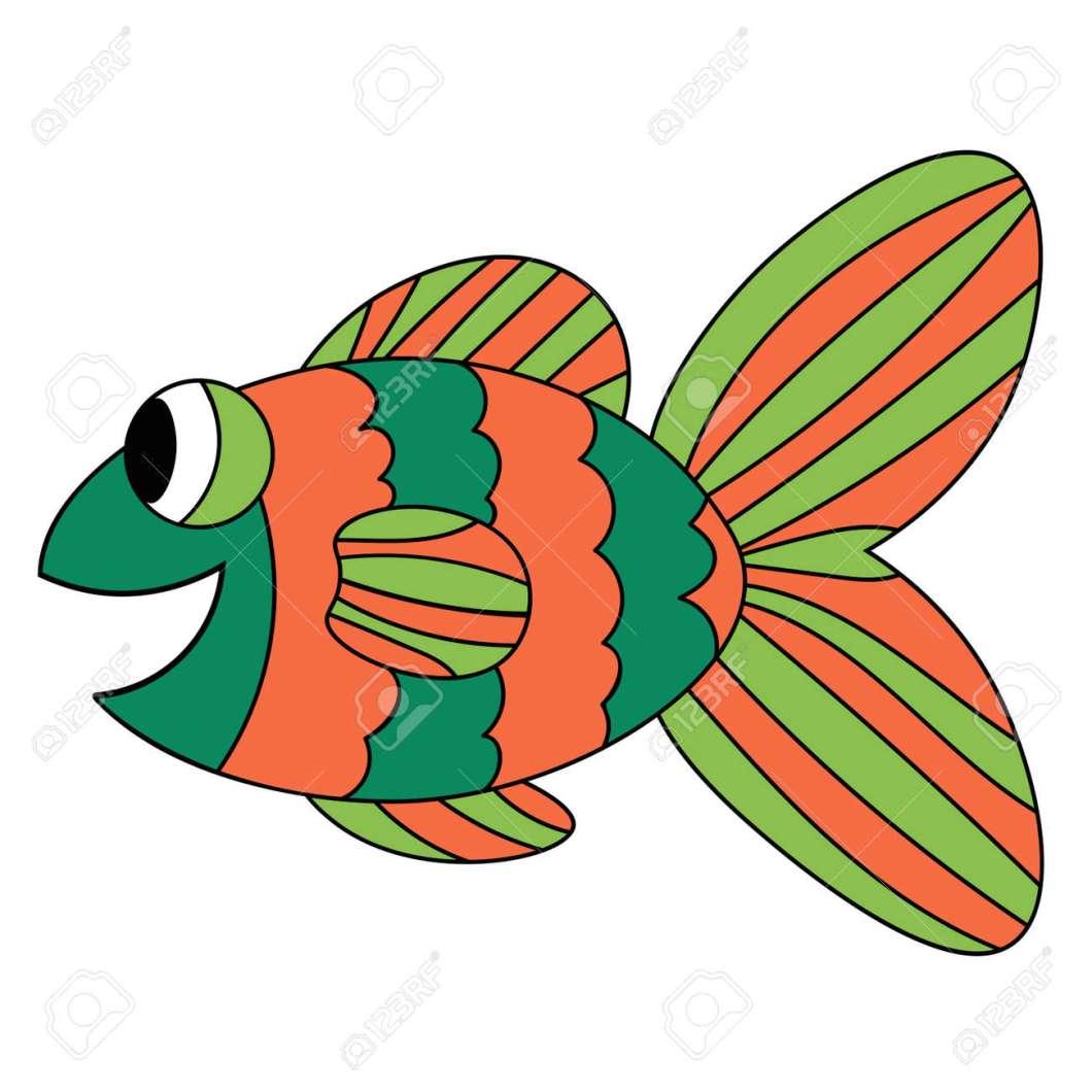 Cute Cartoon Fish Outline   Cartooncreative.co