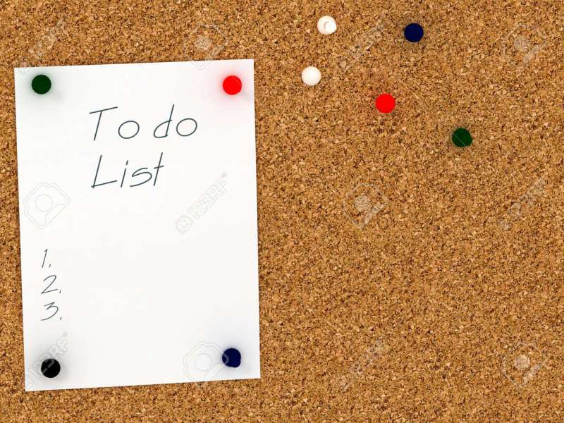 Cork Board With To Do List Template Stock Photo  Picture And Royalty     Cork board with to do list template Stock Photo   45260339
