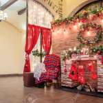 Christmas Decoration Of The Hall In The Restaurant Holiday In Stock Photo Picture And Royalty Free Image Image 124659547