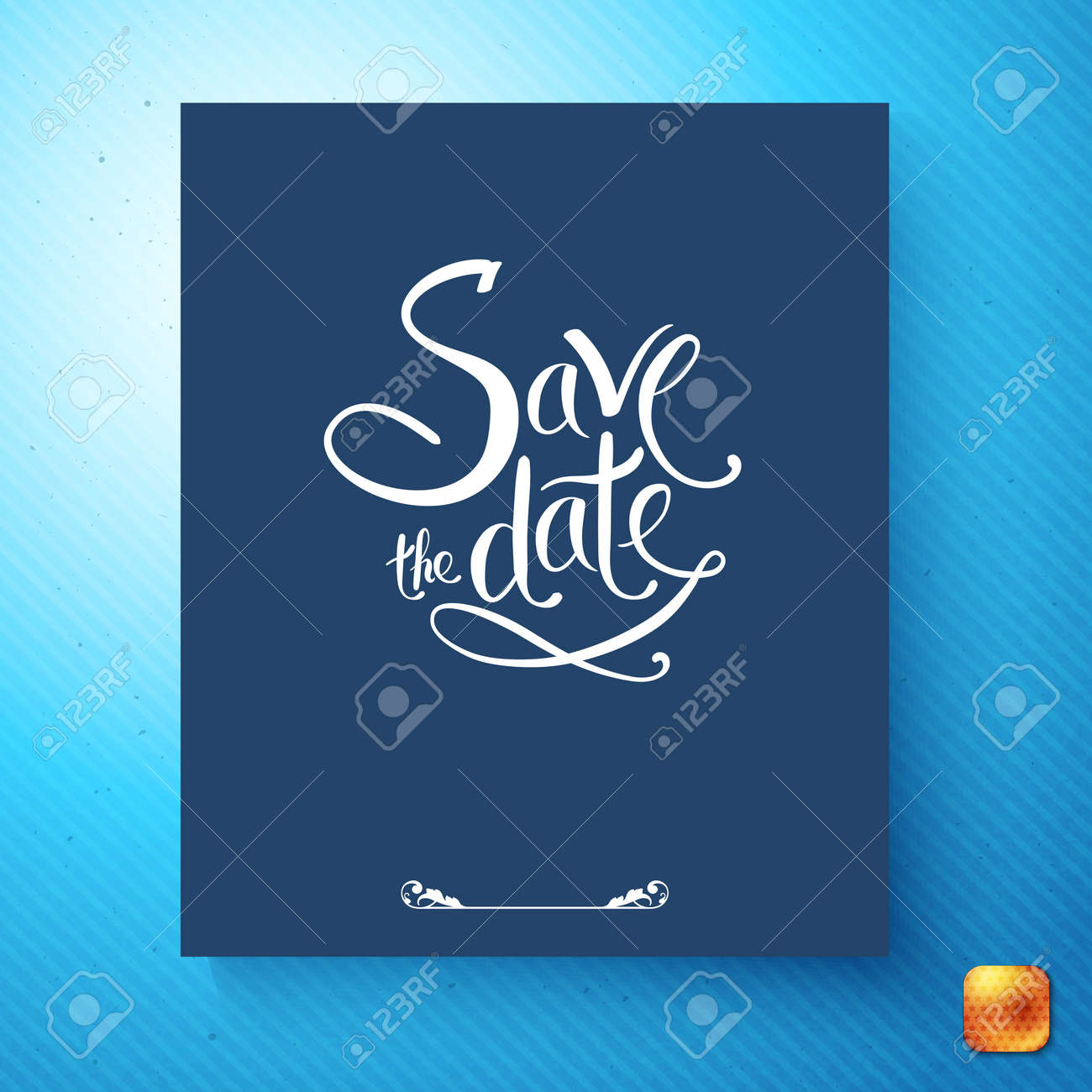 https www 123rf com photo 113426408 stock vector simple stylish save the date wedding invitation card design with white script on a blue background o html