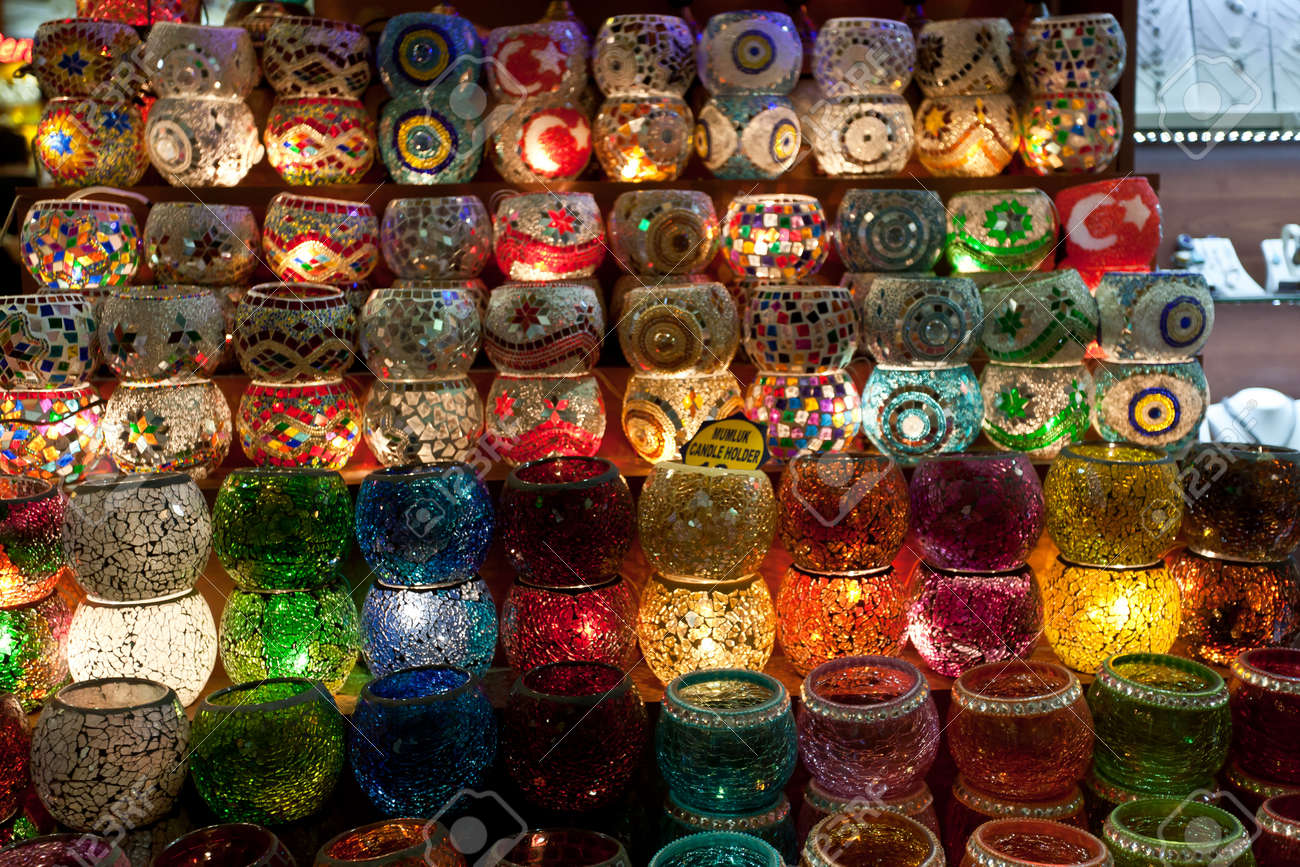 Lanterns at Grand Bazaar - Istanbul, Turkey