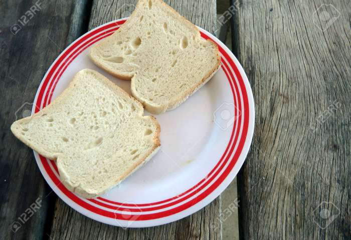 2 Slices Of White Bread Stock Photo Picture And Royalty Free Image