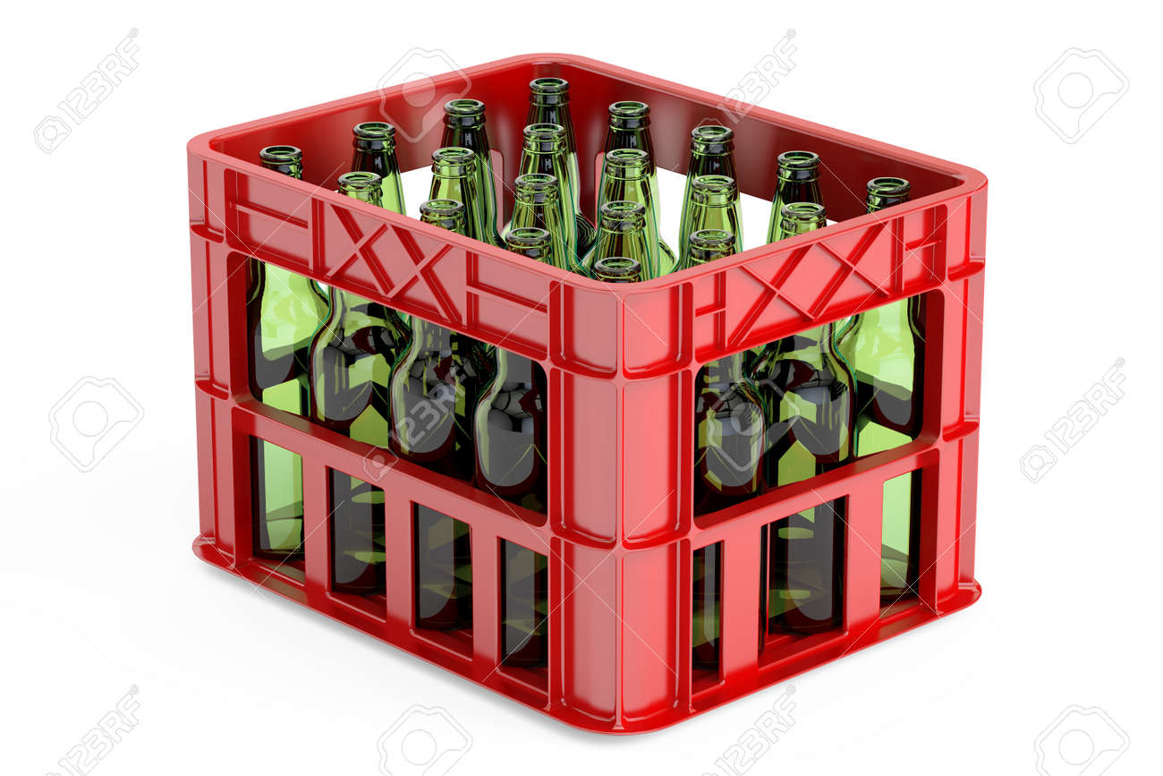 boite de rangement en plastique caisse de bouteilles vides rendu 3d isole sur fond blanc banque d images et photos libres de droits image 68278384