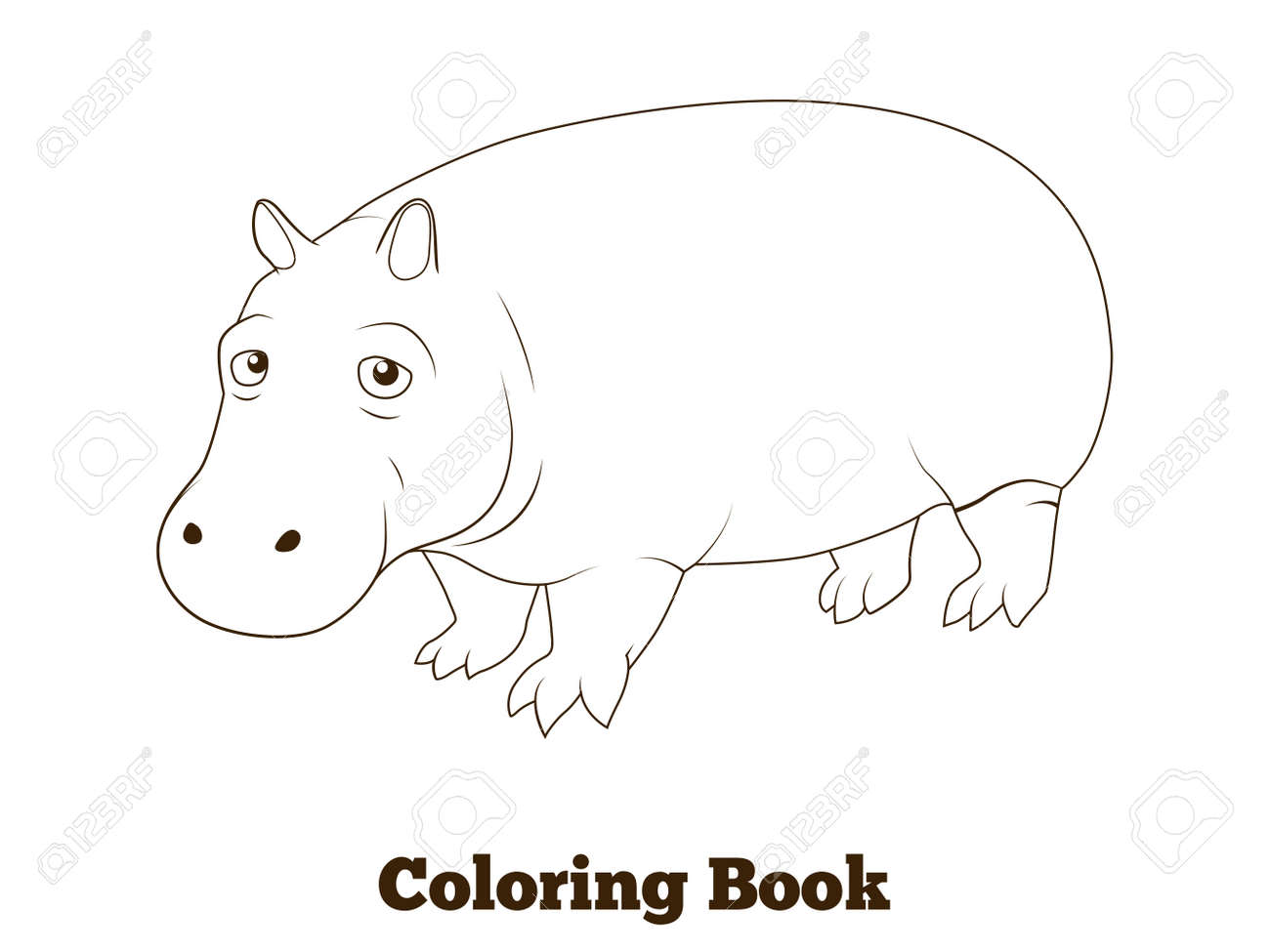 Animales Para Dibujar Hipopotamo On Log Wall