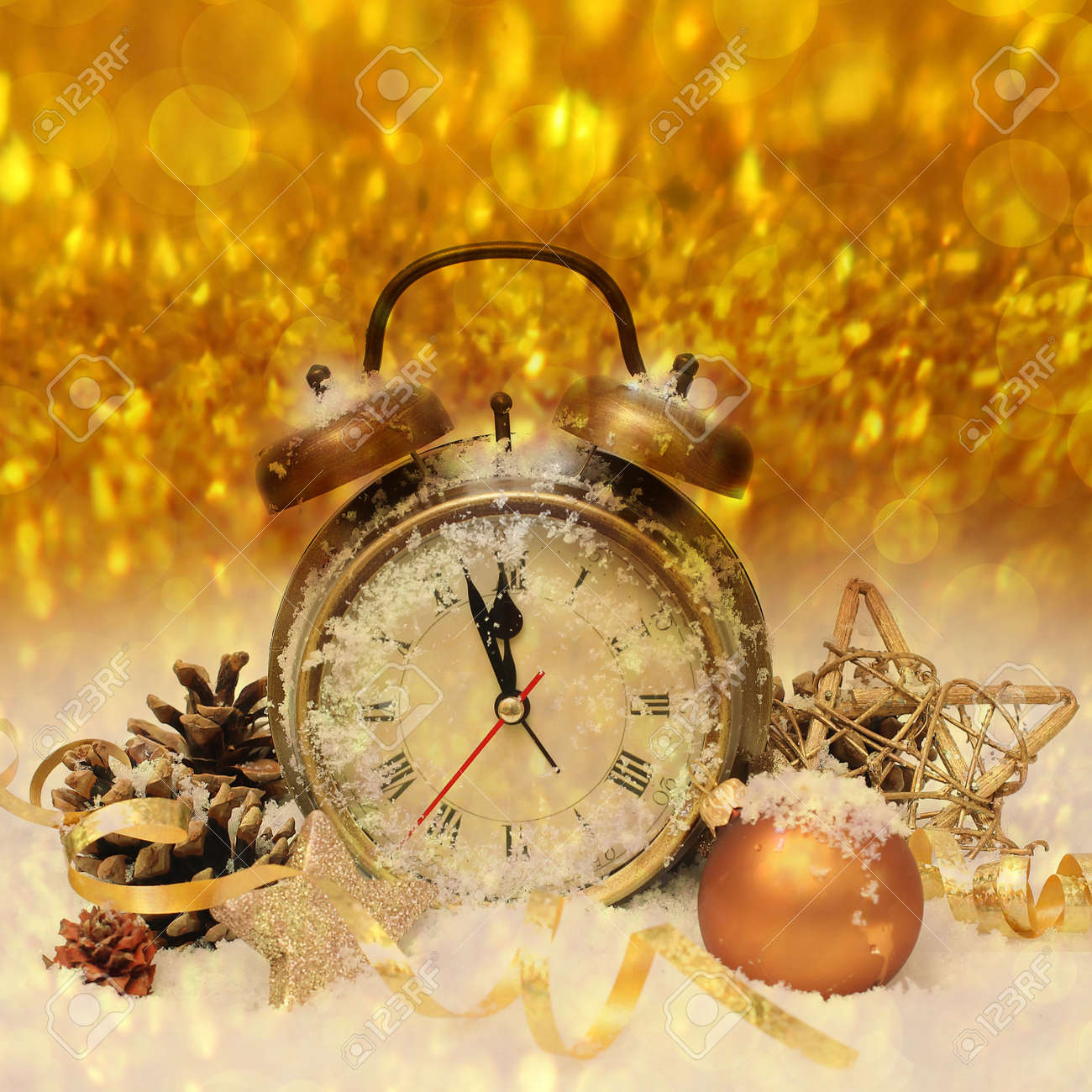 New Year Clock Before Midnight Stock Photo  Picture And Royalty Free     new year clock before midnight Stock Photo   33522129