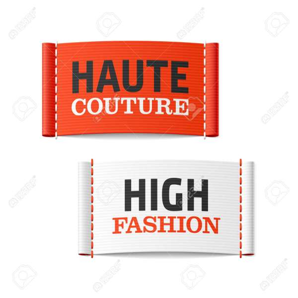 Haute Couture And High Fashion Clothing Labels Royalty Free Cliparts     Haute Couture and High Fashion clothing labels Stock Vector   30550497