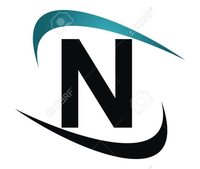 Modern Icon Solution Letter N Stock Vector 90101707
