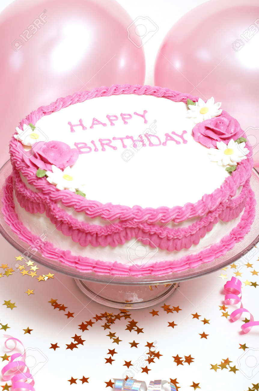 A Birthday Cake For Any Aged Female Stock Photo Picture And Royalty Free Image Image 7617930