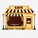 Cafe Street Shop Building Facade Small Store Front Restaurant Royalty Free Cliparts Vectors And Stock Illustration Image 62134264