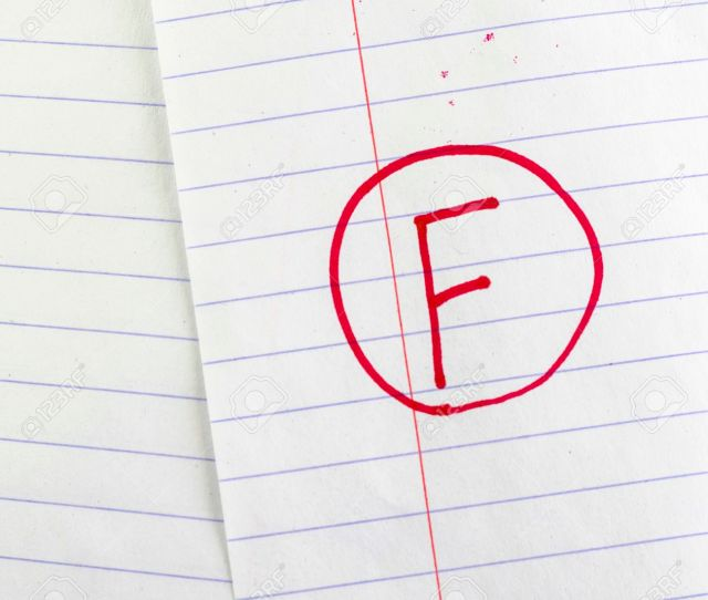 Grade F On Line Paper Background Stock Photo 26031539