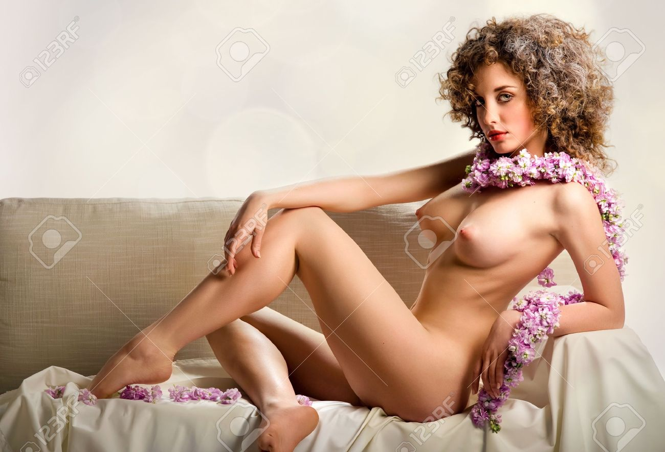 Beautiful Naked Young Woman Indoors Stock Photo 9423746