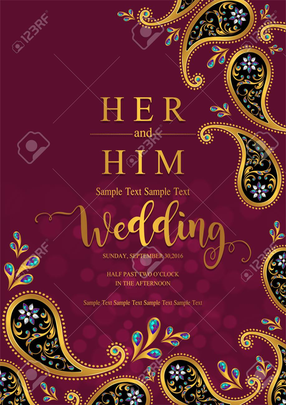 Background Indian Wedding Card Template