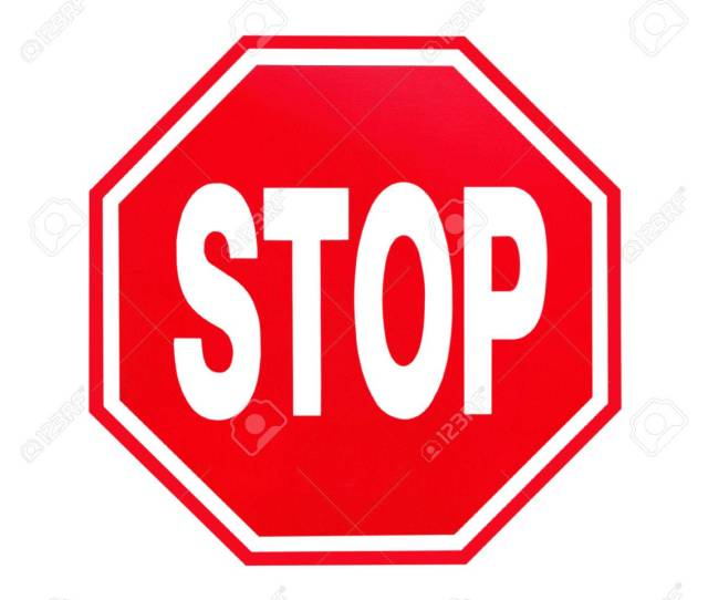 Stock Photo Stop Sign On White Background