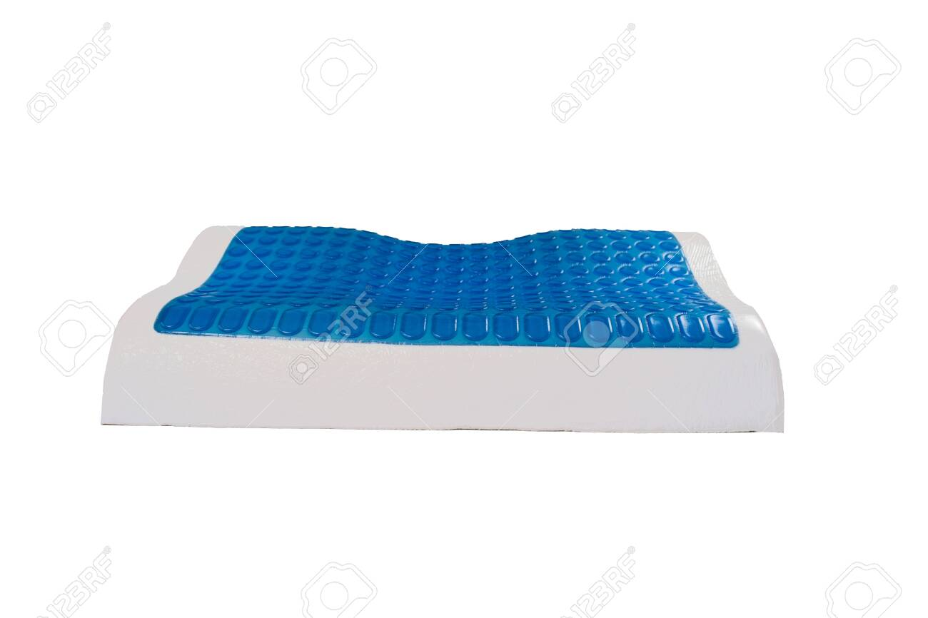 orthopedic pillow from latex with memory and cooling effect