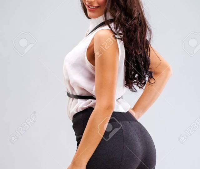 Big Sexy Ass Close Up Face Young Arabic Woman Stock Photo
