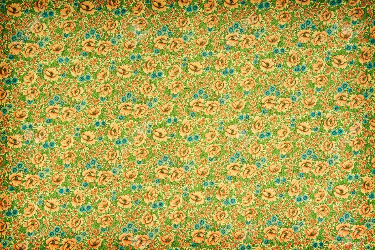Green And Yellow Vintage Floral Wallpaper With A Dense Repeat Stock Photo Picture And Royalty Free Image Image 16186171