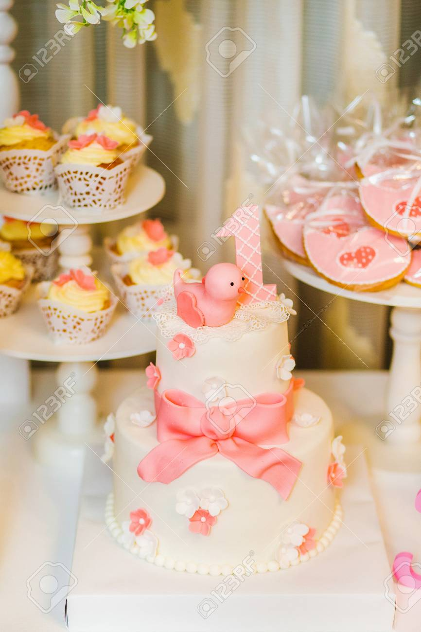 Catering For Birthday Party Close Up Of Sweet Cute Pink Desserts Stock Photo Picture And Royalty Free Image Image 99081258