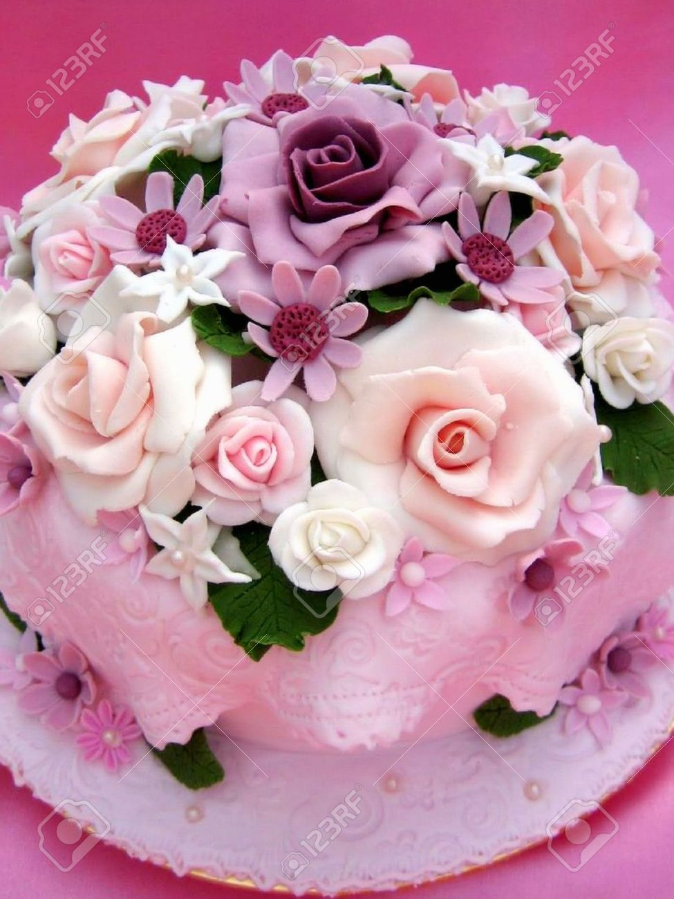 Flower Colorful Birthday Cake Stock Photo Picture And Royalty Free Image Image 5211575