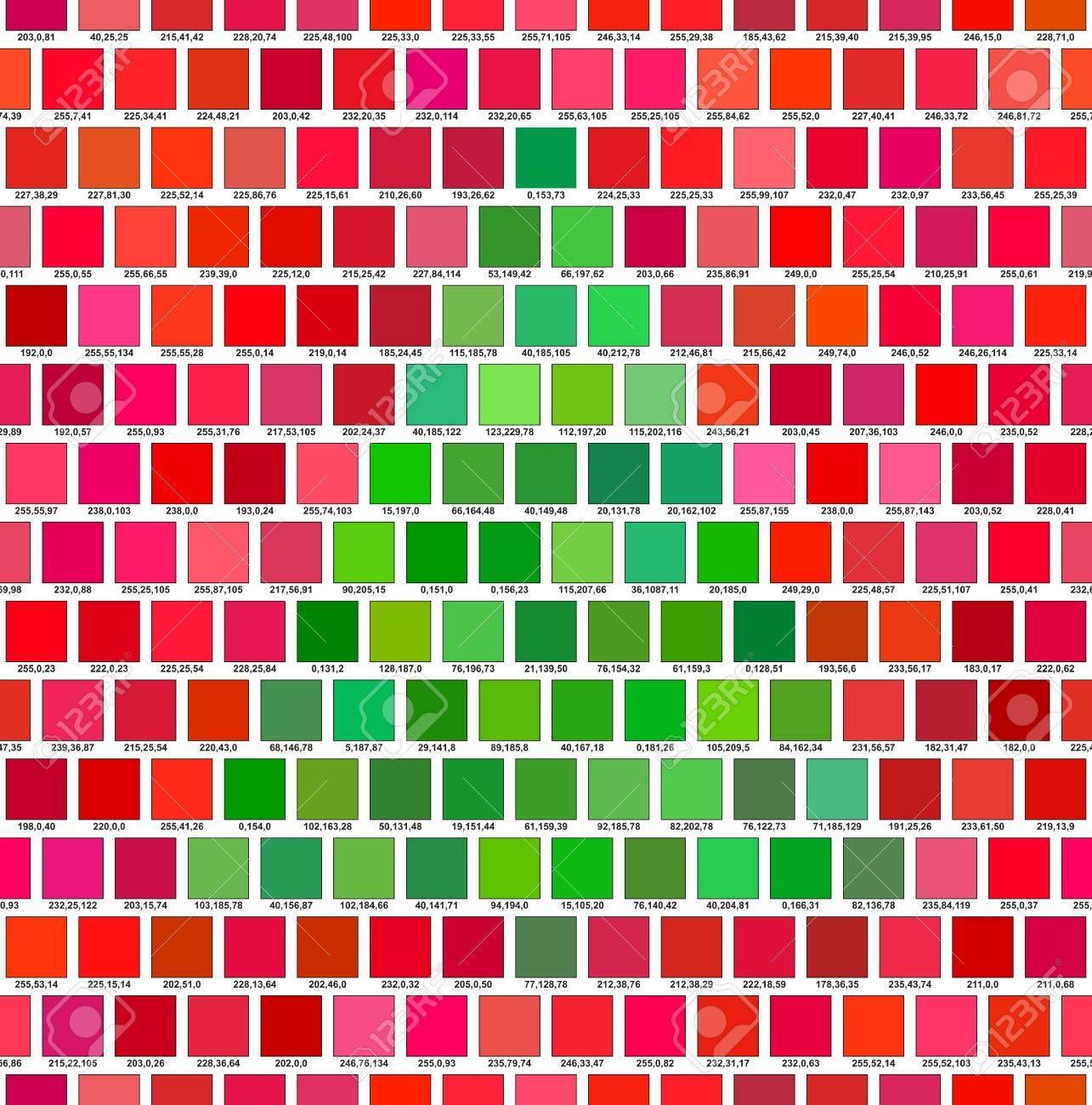 Palette De Couleurs Rouge Et Vert L Arbre De Noel Clip Art Libres De Droits Vecteurs Et Illustration Image 15976110