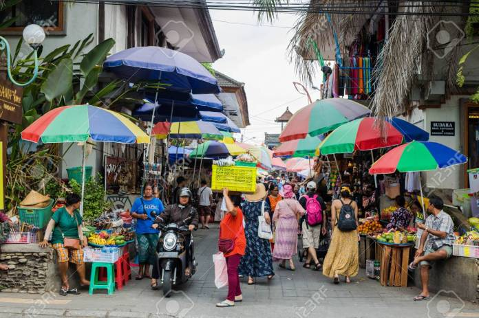 Bali Indonesia Sept 20 2019 Crowded Market At Ubud City Stock Photo Picture And Royalty Free Image Image 130762555