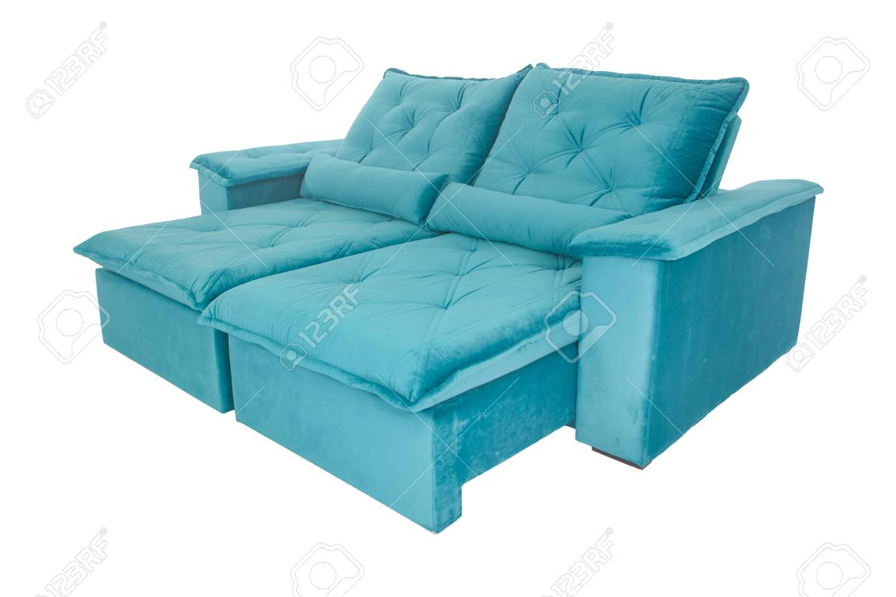 modern blue suede couch sofa isolated on white background stock photo picture and royalty free image image 93611259
