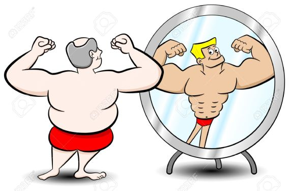 Image result for male body image mirror cartoon
