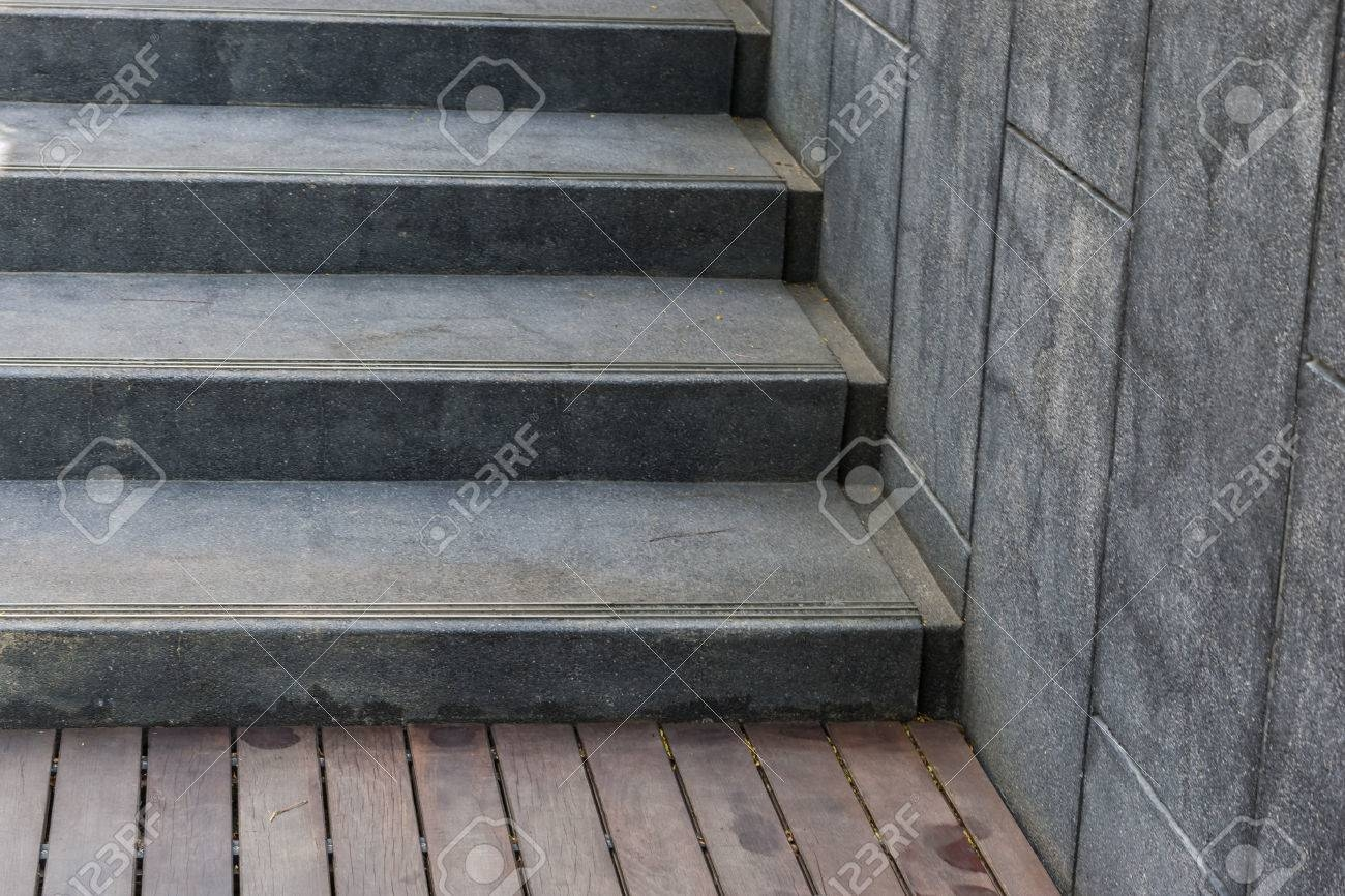 Concrete Steps Or Cement Stairs With Wood Floor Stock Photo   Wood And Concrete Stairs   House   Internal   Glass   Small Space   Pinterest
