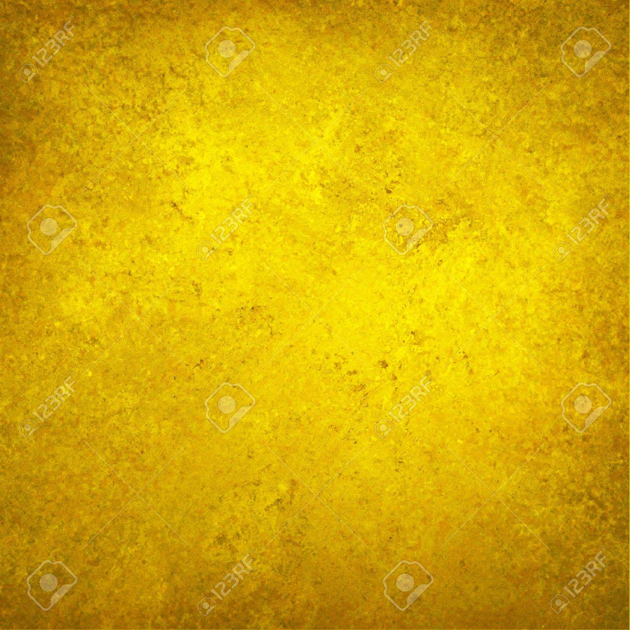 fond jaune or avec la texture et faible frontiere vignette luxueux solide mur de fond d or