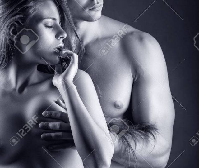 Sexy Love Couple Black And White Photo Stock Photo 35844688