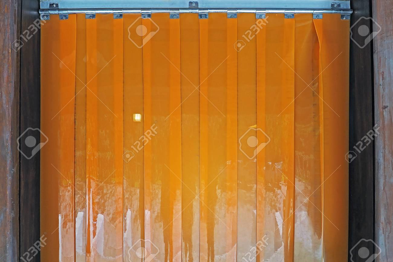 orange color industrial warehouse plastic pvc strip curtains