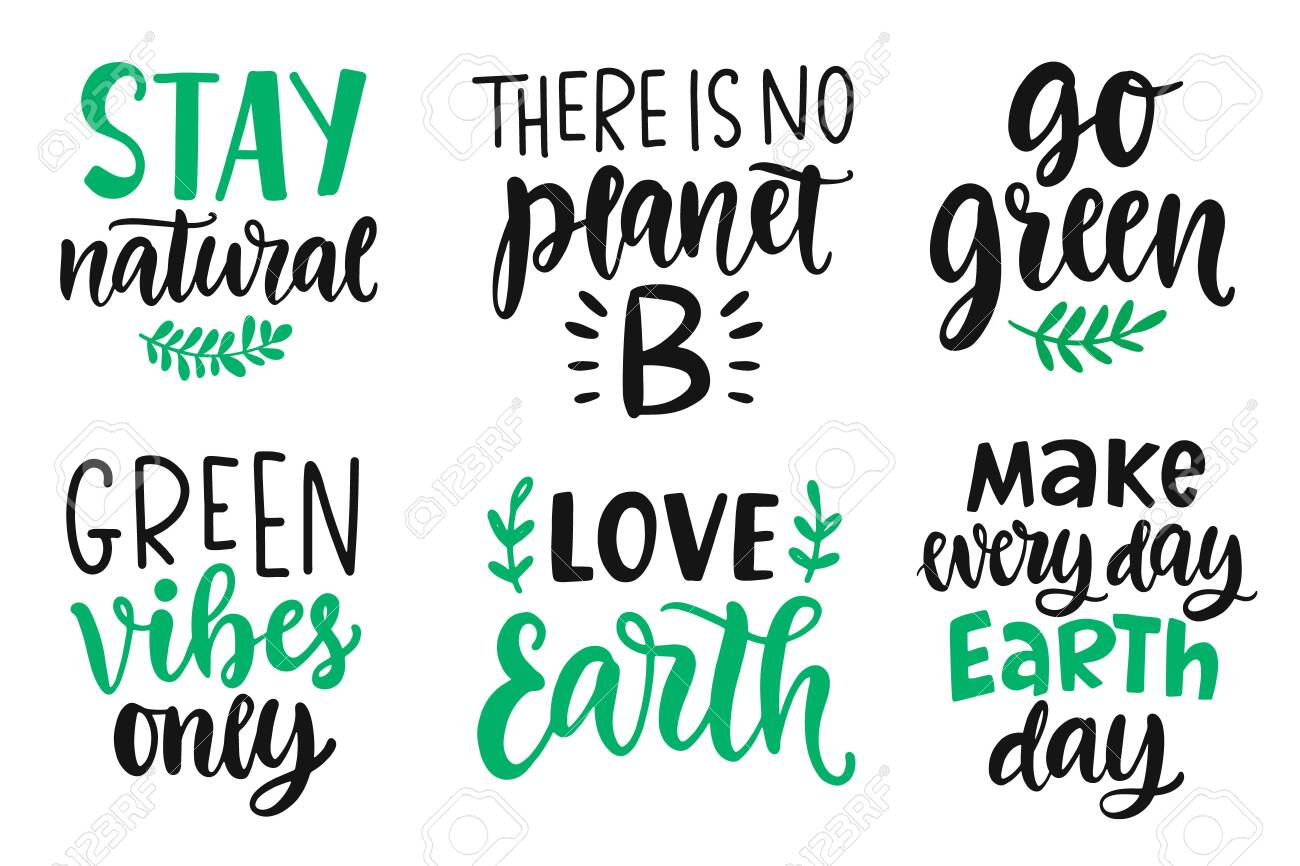 Earth Day Plastic Free Recycle Go Green Save Energy Concept Royalty Free Cliparts Vectors And Stock Illustration Image 131605464