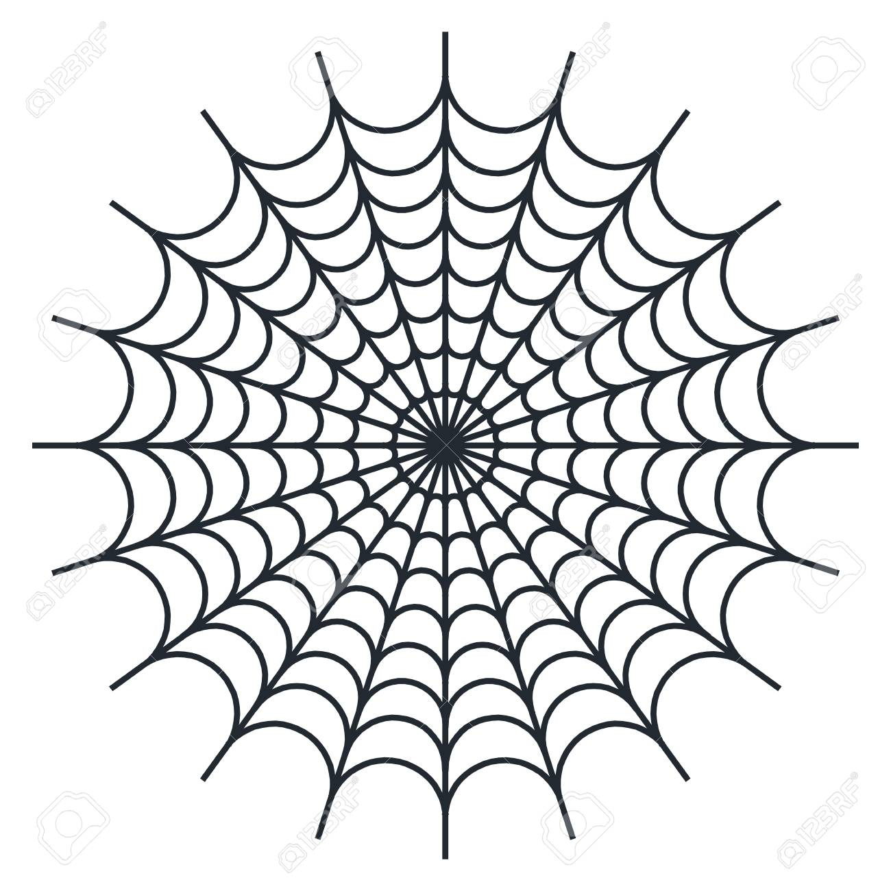 Spider Web Vector Illustration On White Background Royalty Free Cliparts Vectors And Stock Illustration Image 76182240
