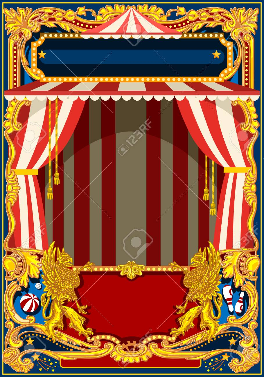 Carnival Poster Template Circus Vintage Theme For Kids Birthday Royalty Free Cliparts Vectors And Stock Illustration Image 93385656
