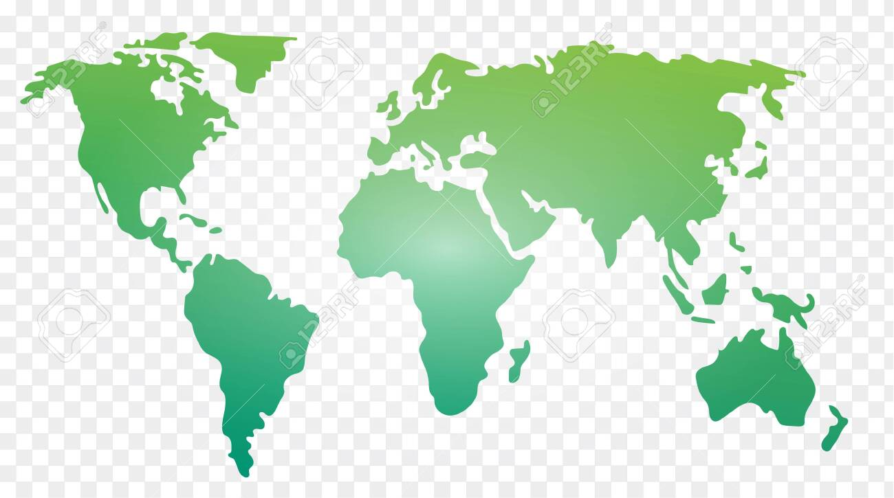 World Map Vector Illustrated Template