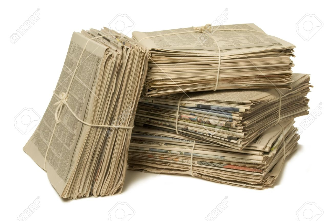 Image result for bundle of newspaper