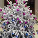 Small White Christmas Tree With Snow Stock Photo Picture And Royalty Free Image Image 23236420