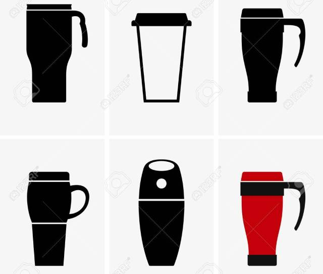 Coffee Travel Mug Shade Pictures Stock Vector