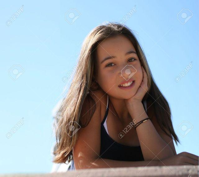Asian Teen Girl Against The Sky Stock Photo 301905