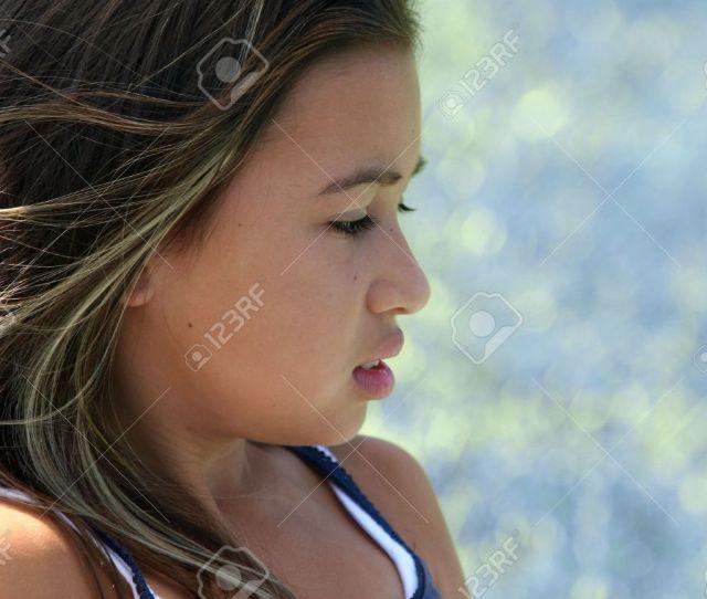 Profile Of A Cute Teenage Girl Stock Photo 301902