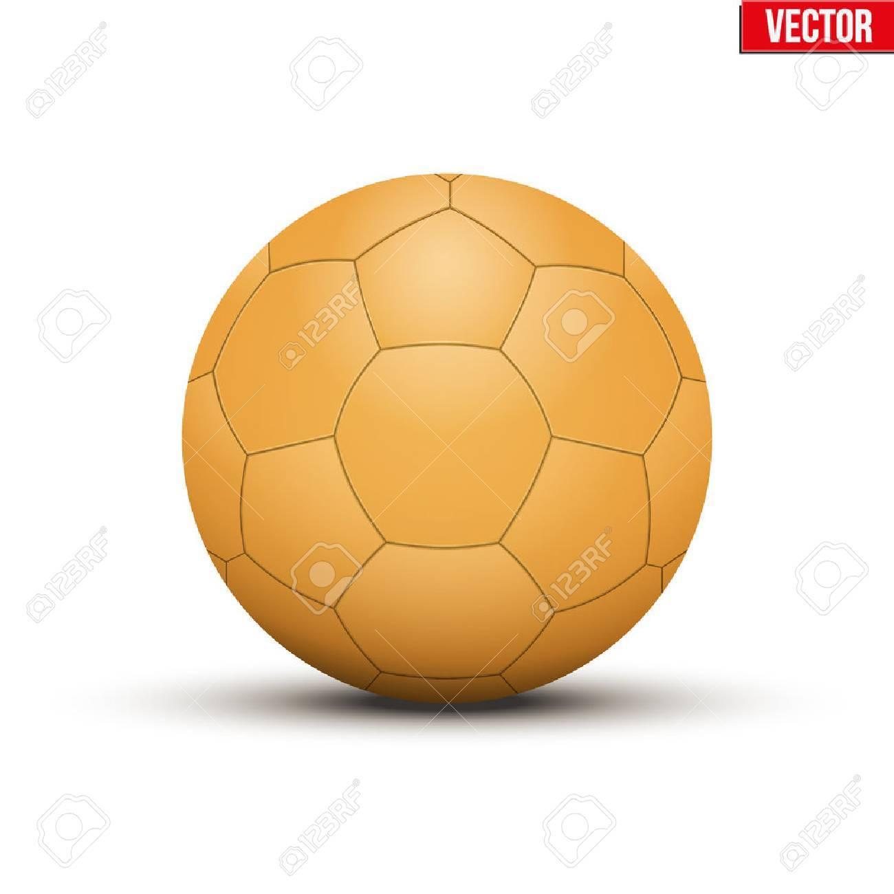 handball ball orange sportausrustung editierbare vektor illustration auf weissem hintergrund