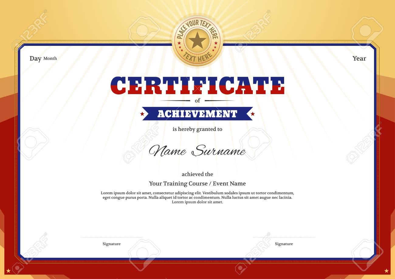 Certificate Template Border Frame Diploma Design For Sport Event